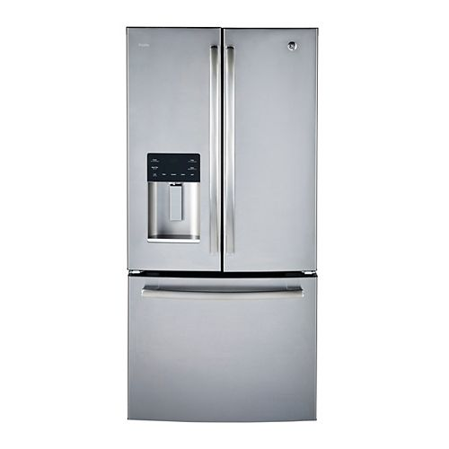 GE Profile 33-inch W 23.8 cu.ft. French Door Bottom Freezer Refrigerator in Stainless Steel, ENERGY STAR®