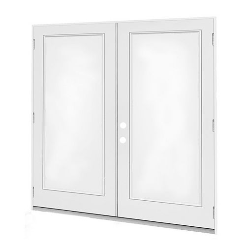 5 ft. 1-Lite Door Glass Right-Hand Outswing French Door with Low E-Argon 4 9/16 East
