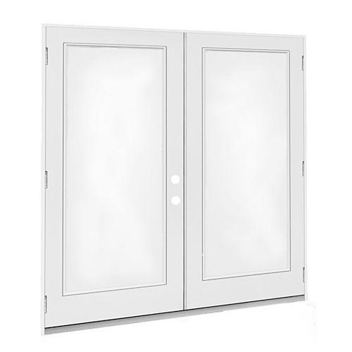 JELD-WEN Windows & Doors 5' 1 car GA porte jumelle ouv ext. O