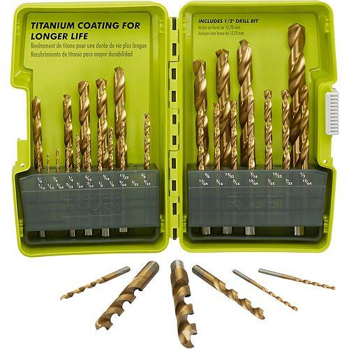 Titanium Drill Bit Set (32-Piece)