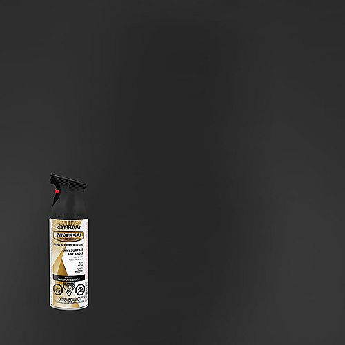 Spray Paint And Primer in One in Farmhouse Matte Black, 340 G Aerosol
