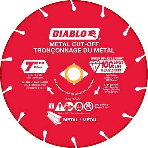 Meule 7 pouce à diamant pour tronçonner le métal