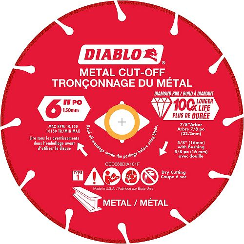 Diablo 6 inch Diamond Metal Cut-Off Wheel