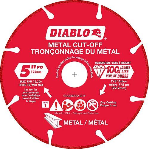 Meule 5 pouce à diamant pour tronçonner le métal