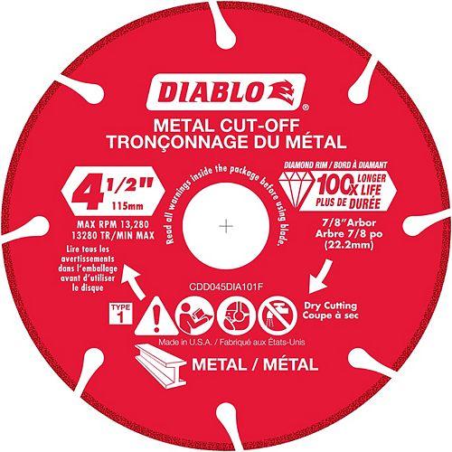 4.5 inch Diamond Metal Cut-Off Wheel