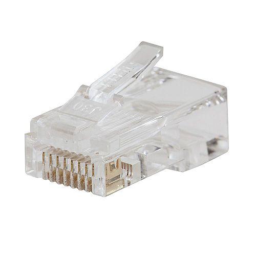 Fiche de données modulaire Pass-Thru CAT6, pqt de 10