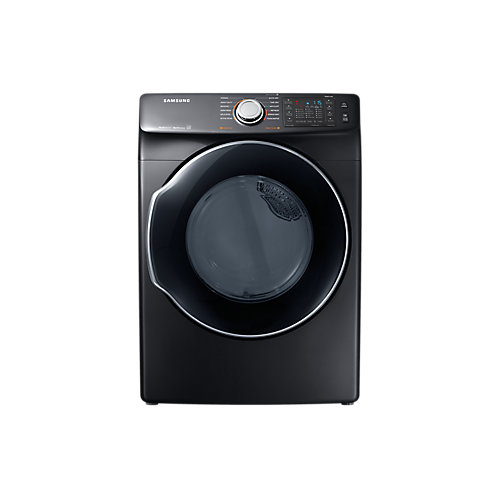 7.5 cu. ft. Front Load Dryer with Steam in Black Stainless Steel - ENERGY STAR®