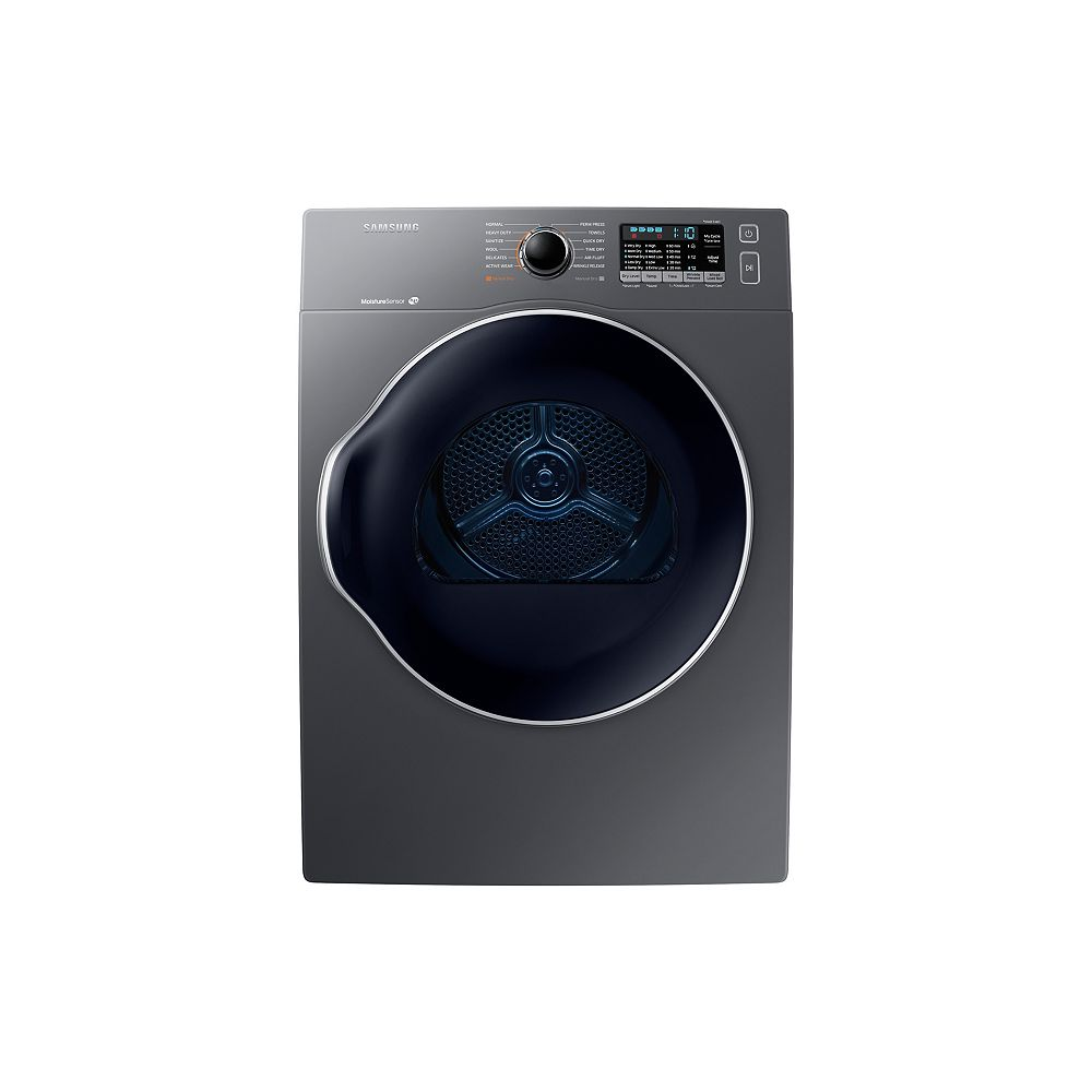 Samsung 4.0 cu.ft. Compact Front Load Electric Dryer in Platinum
