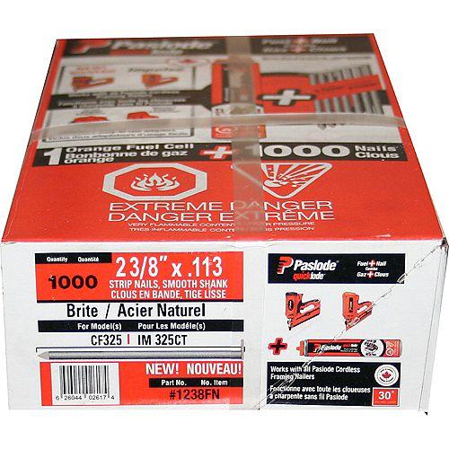 "Paslode Framing Fuel+Nail Combo Pack (1000 - .113 X 2-3/8"" Framing Nails + 1 Orange Fuel Cells)"