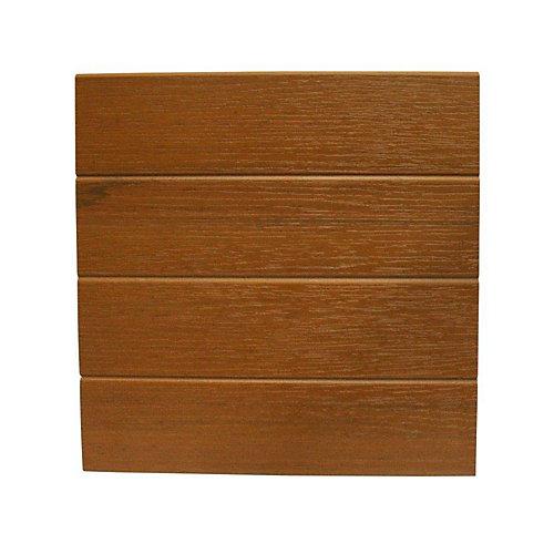 12 Po x 12 Pi - Revêtement de Bordure en Relief - Cèdre (cintres requis)