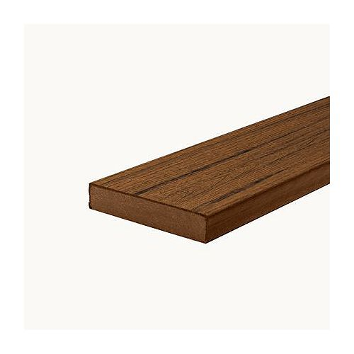 20 ft. - Transcend Tropical Composite Capped Square Decking - Spiced Rum