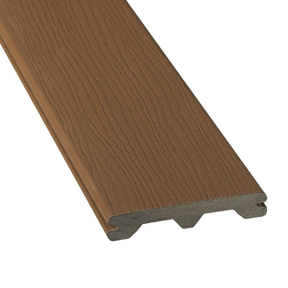 Veranda 12 Pi. - HP Revêtement en Composite Rainuré - Walnut
