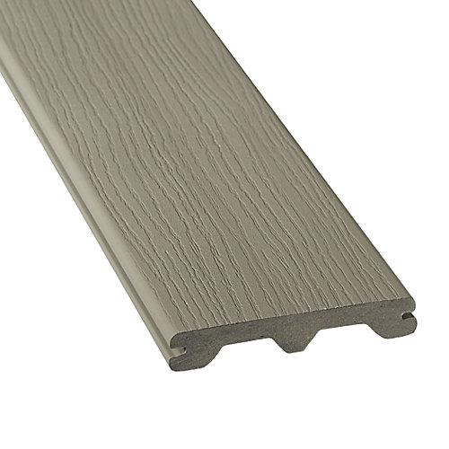 12 Ft. - HP Composite Capped Grooved Decking - Grey