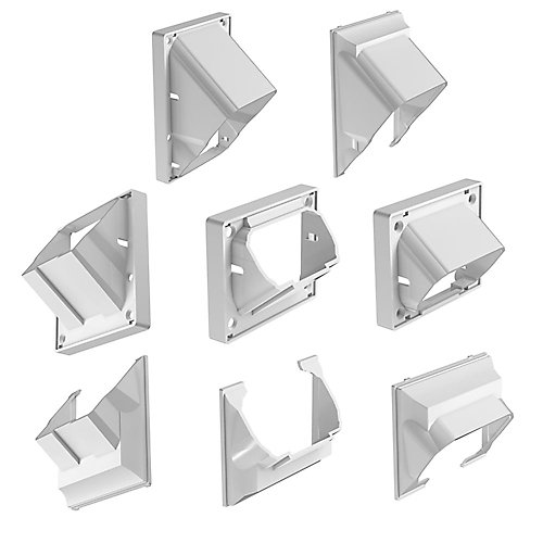 Classic Stair Rail Connectors In White (4-Pack)