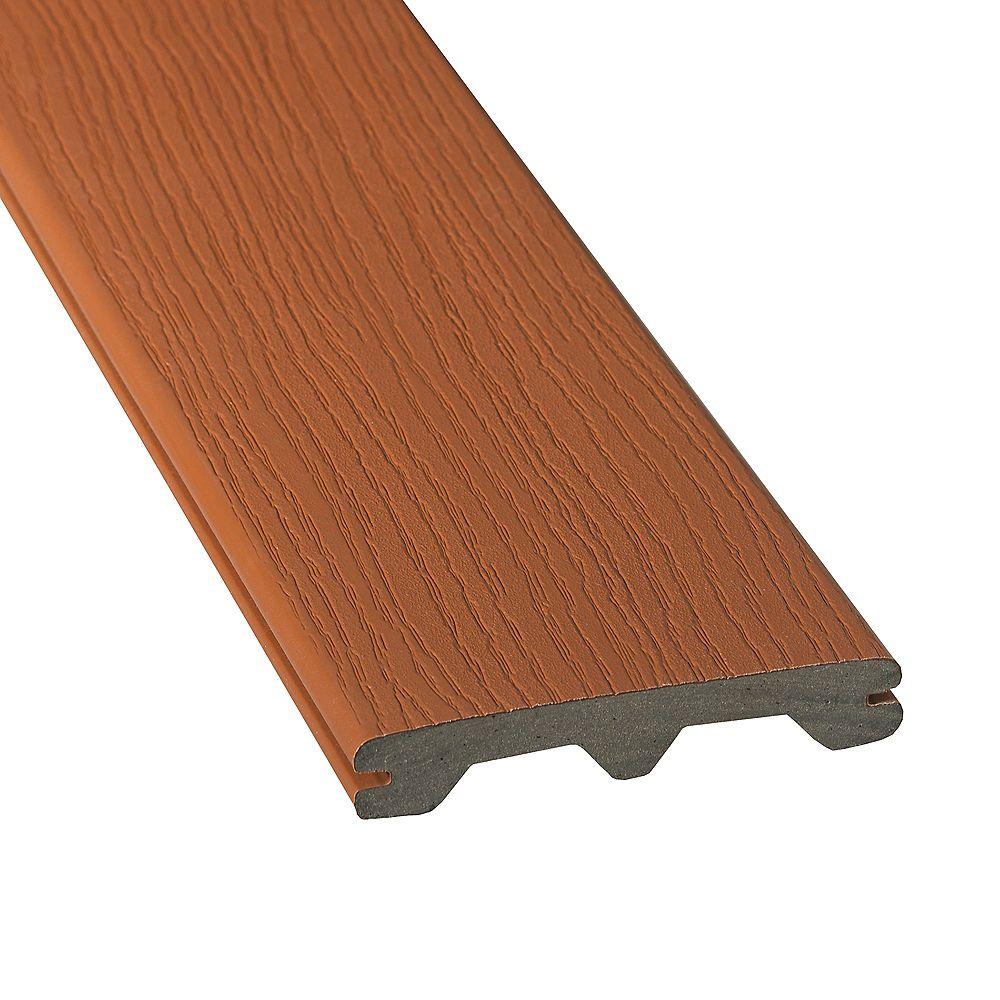Veranda 16 Ft. - HP Composite Capped Grooved - Redwood