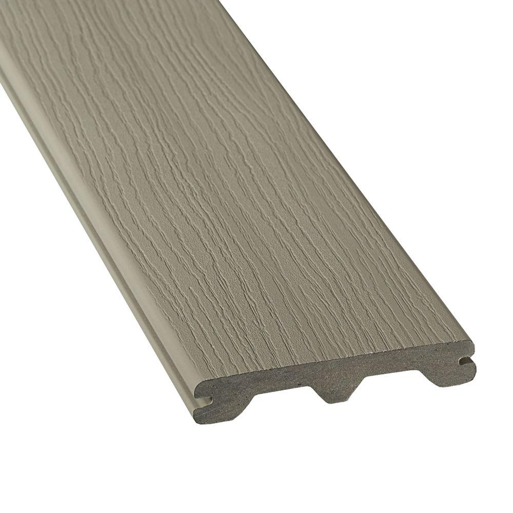 Veranda 20 Pi. - HP Revêtement en Composite Rainuré - Grey
