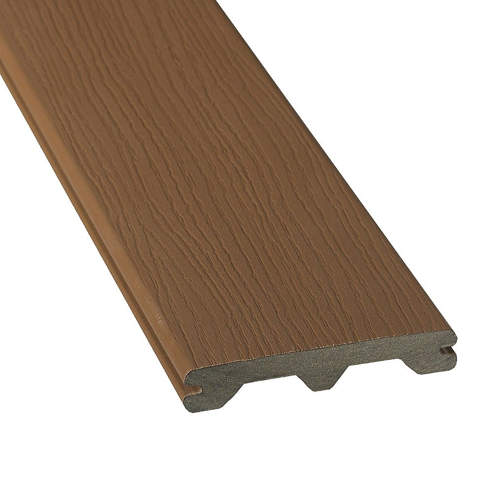 Veranda 20 Pi. - HP Revêtement en Composite Rainuré - Walnut