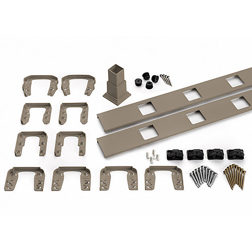 6 ft. - Infill Rail Kit for Square Balusters - Horizontal - Gravel Path