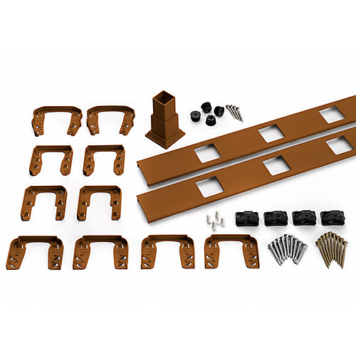 8 ft. - Infill Rail Kit for Square Balusters - Horizontal - Tree House