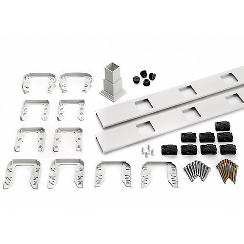 8 ft. - Infill Rail Kit for Square Balusters - Stair - White
