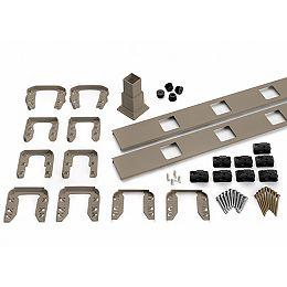 8 pi. - Ensemble d'accessoires de Rampe pour Balustres Carrés - Escalier - Gravel Path