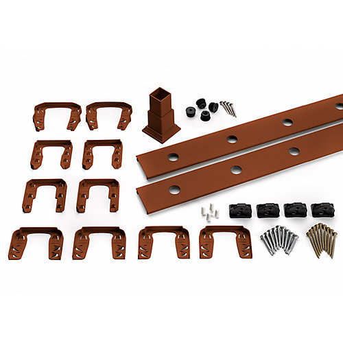 8 ft. - Infill Rail Kit for Round Aluminium Balusters - Horizontal - Fire Pit