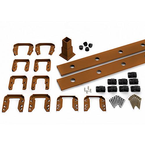 6 pi. - Ensemble d'accessoires de Rampe pour Aluminium rond - Balustres - Escalier Tree House