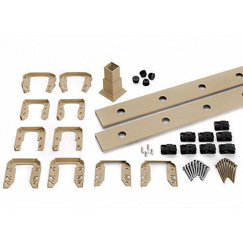 8 pi. - Ensemble d'accessoires de Rampe pour Aluminium rond - Balustres - Escalier Rope Swing