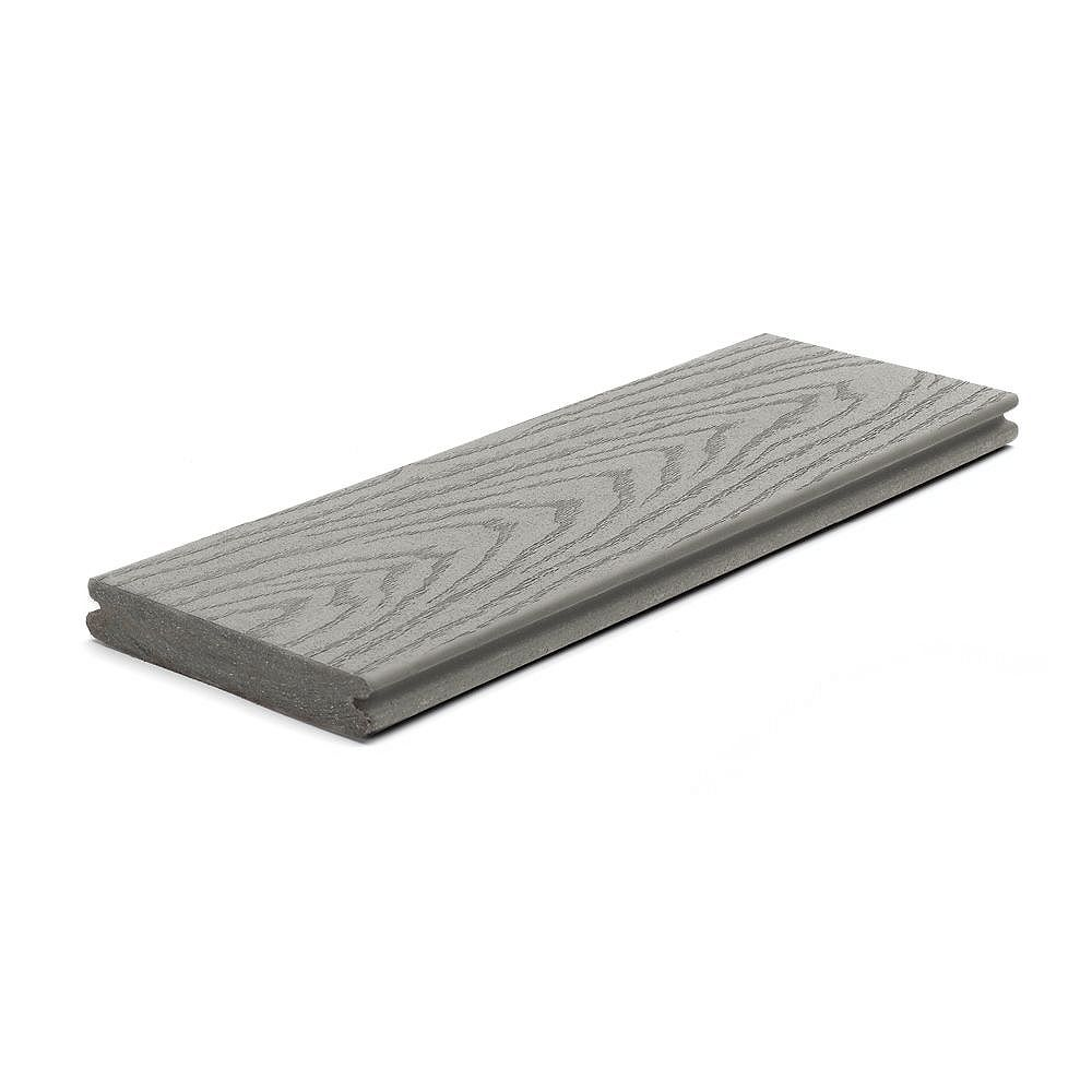 Trex 12 Ft. - Select Composite Capped Grooved Decking - Pebble Grey
