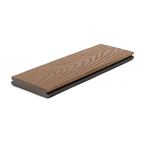 16 Ft. - Select Composite Capped Grooved Decking - Saddle