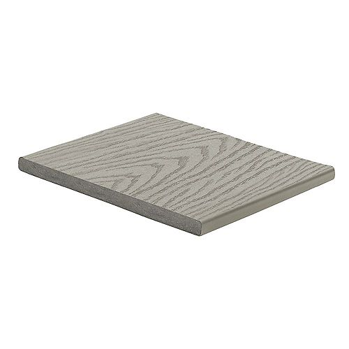 12 Ft. - Select Composite Capped Fascia Pebble Grey - 1  inch x 12  inch