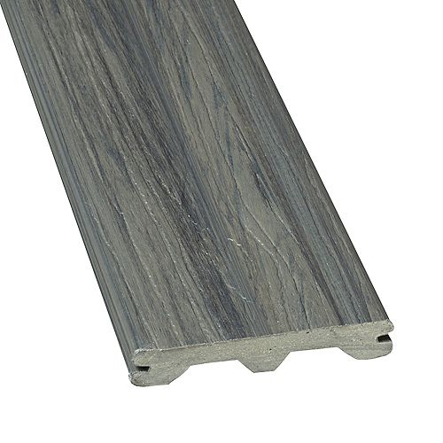 16 Ft. - Elite Capped Grooved Composite Decking - Panama Grey
