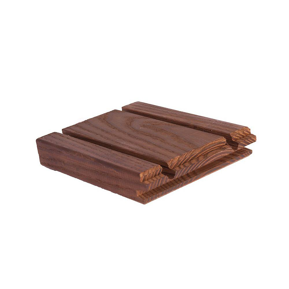 Thermory North American White Ash - Random Length 5/4 x 5 Grooved Hardwood Decking (Price Per Linear Foot)
