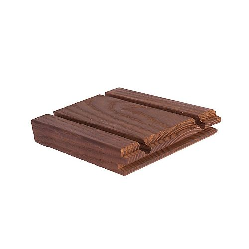 North American White Ash - Random Length 5/4 x 5 Grooved Hardwood Decking (Price Per Linear Foot)