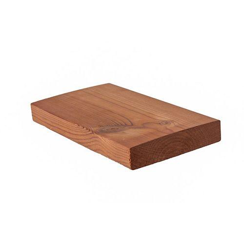 Scandinave modifié thermiquement pour une surface de terrasse -5/4 x 5 planche de terrasse en pin solide (Prix par pied)