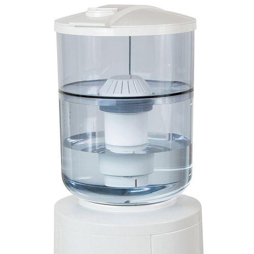 Système de filtration d'eau de réduction plomb et chimique pour distributeurs d'eau à chargement par le dessus