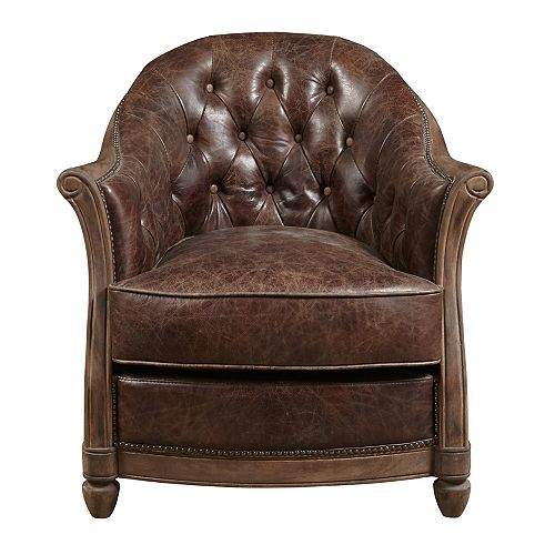 Leather Tufted Accent Chair