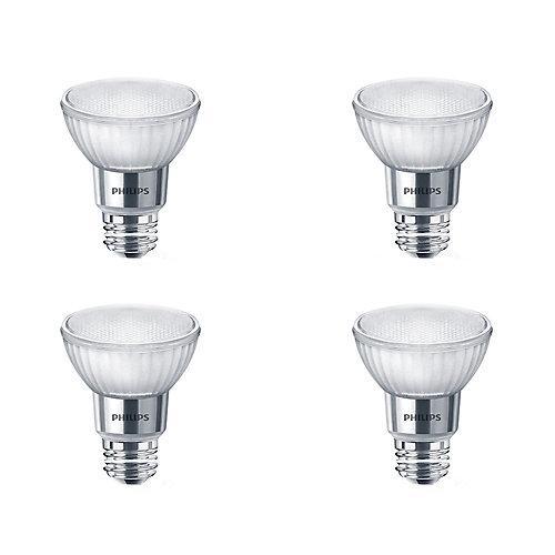 50W Equivalent Bright White Glass PAR20 LED Light Bulb ENERGY STAR® (4-Pack)
