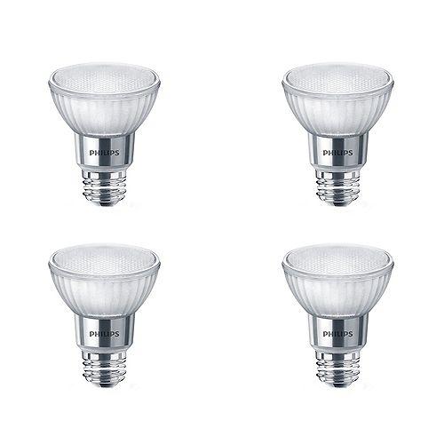 Philips Ampoule DEL PAR20 ENERGY STAR, équivalence de 50 W, verre, blanc brillant, ens. de 4