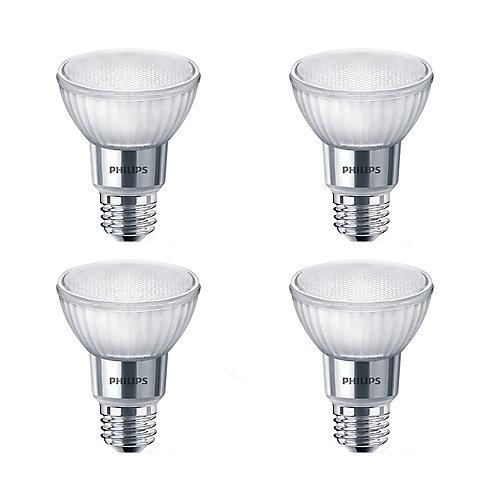 50W Equivalent Soft White WarmGlow Glass PAR20 LED Light Bulb ENERGY STAR® (4-Pack)