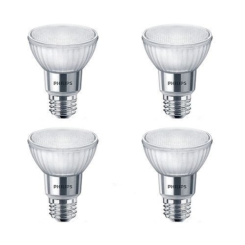 50W Equivalent Soft White WarmGlow Glass PAR20 LED Light Bulb ENERGY STAR® (4-Pack)
