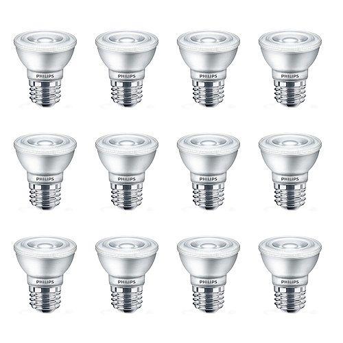 DEL 50W PAR16 Blanc Doux Verre Cas de 12 Ampoules