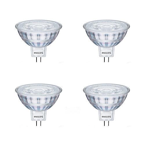 20W Equivalent Bright White Glass MR16 LED Light Bulb (4-Pack)