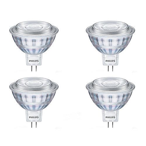 7.5W=50W Bright White  MR16 LED  Light Bulb (4-pack)