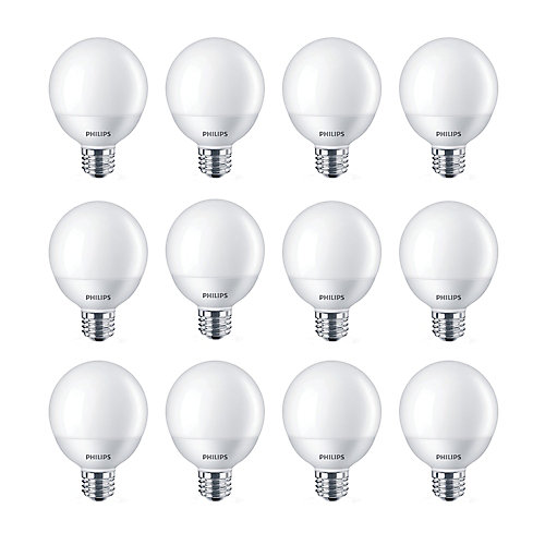 5W=60W Daylight G25 Non-dimmable LED Light Bulb (12-pack)