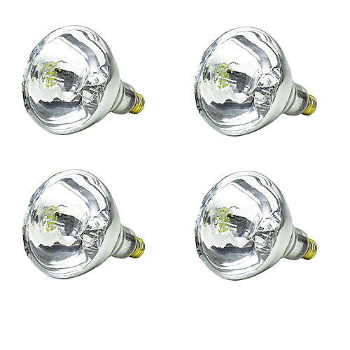 INC 250W BR40 Infrarouge CLR - Cas de 4 Ampoules