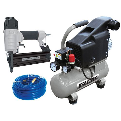1 HP Air Compressor with 2-inch Brad Nailer Combo Kit