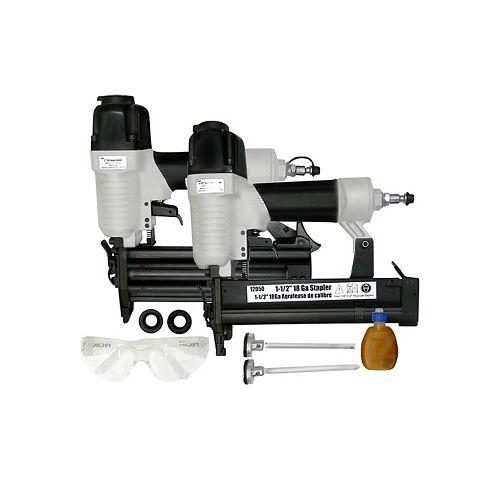 Compressor Brad Nailer Stapler Combo Kit