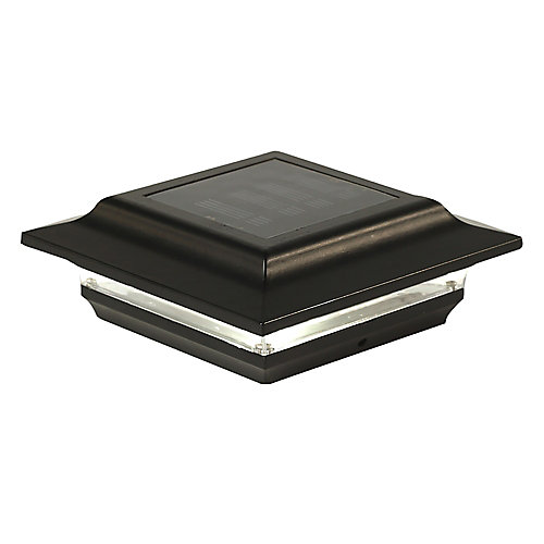 Capuchon De Poteau Solaire Imperial 5X5 Aluminium Noir