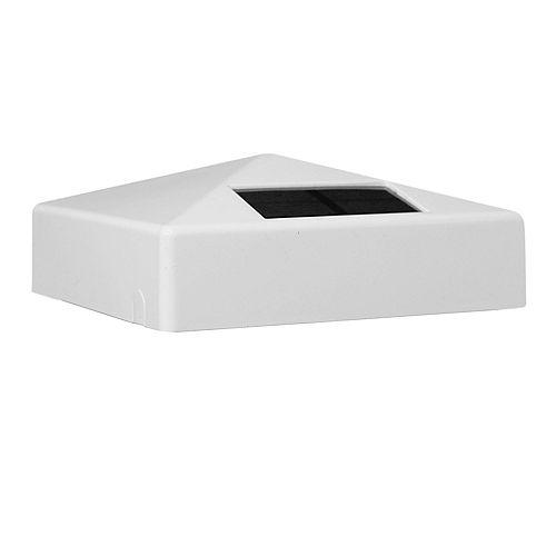 4 inch x 4 inch White PVC Pyramid Solar Post Cap